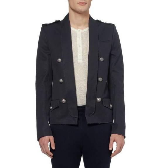Balmain Raw Cotton Military Blazer / Jacket Size US S / EU 44-46 / 1 - 3