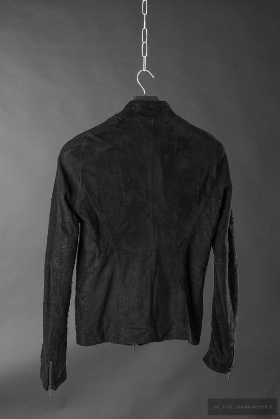 Julius = last drop = distressed lamb leather colarles jacket Size US M / EU 48-50 / 2 - 2