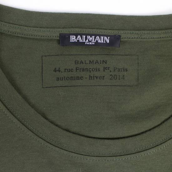 Balmain Green/Gold Cotton Short Sleeve Embellished T-Shirt Size M Size US M / EU 48-50 / 2 - 4