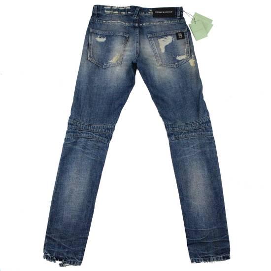 Balmain Pierre Balmain Distressed Moto Biker Jeans Size 32 Made in Italy Size US 32 / EU 48 - 1