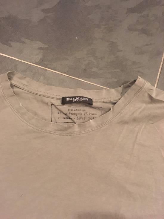 "Balmain Balmain Homme ss 2010 ""Distressed"" Decarnin Era T-Shirt Size US M / EU 48-50 / 2 - 2"