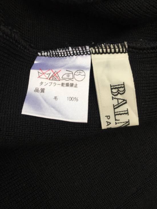 Balmain Authentic Japan Market Black Minimalist Shawl Collar Double Pocket Oversized Stretch Shirt Size US L / EU 52-54 / 3 - 4