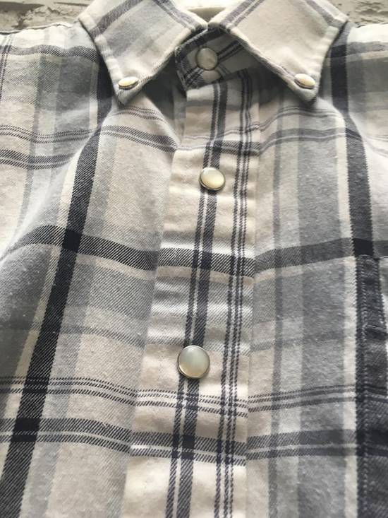 Thom Browne Aw2008 Pearl Snap Enclosure Flannel Size US M / EU 48-50 / 2 - 2