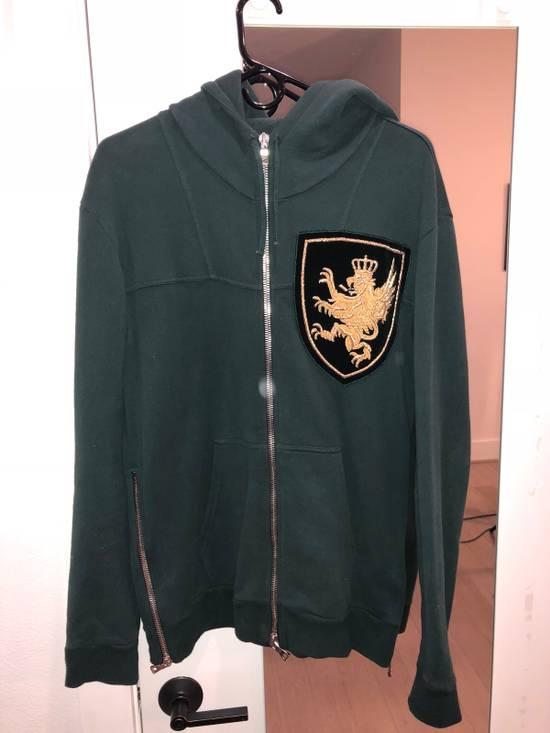 Balmain Green Patchwork Hoodie Size US M / EU 48-50 / 2
