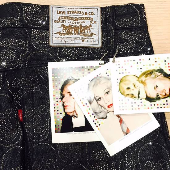 Levi's Vintage Clothing Levis x Damien Hirst x the Andy Warhol x Swarovski crystal Jeans Size US 34 / EU 50 - 2