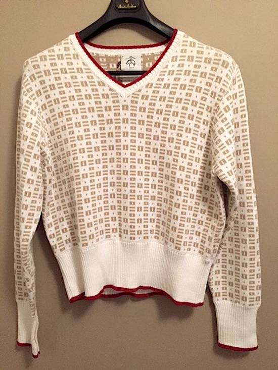 Thom Browne Insigna V-Neck Sweater with Patches Size US XL / EU 56 / 4 - 1