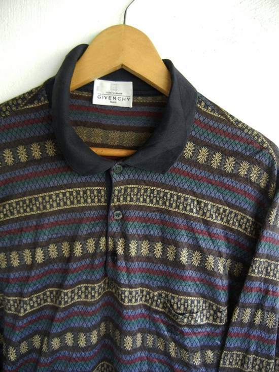 Givenchy 90s GIVENCHY Long Sleeve Old Fashion Polo Shirt 90s Fashion Style Size US L / EU 52-54 / 3 - 1