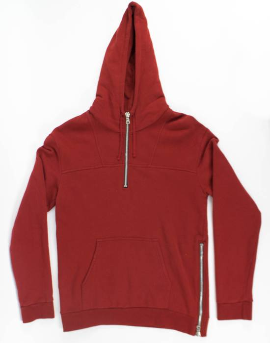 Balmain Red Cotton Hooded Zipper Sweatshirt Size L Size US L / EU 52-54 / 3