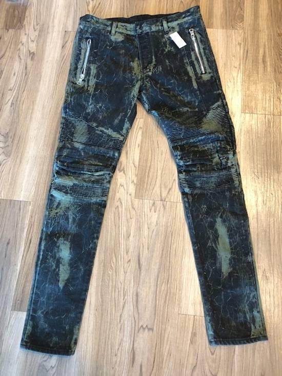 Balmain Extremely Rare Brand New Balmains- Marble-Print Skinny Moto Jeans Size US 32 / EU 48 - 8