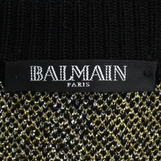 Balmain Black Plaid Wool Blend Embroidered Crewneck Sweater Size Small Size US S / EU 44-46 / 1 - 6