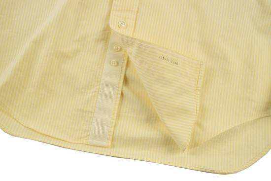 Thom Browne White Grossgrain, Yellow Stripe Oxford Size US L / EU 52-54 / 3 - 6