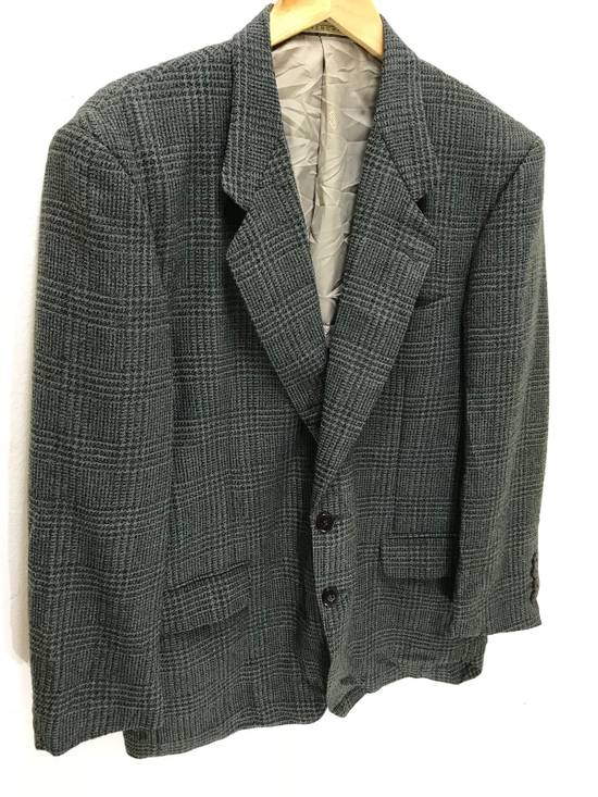 Givenchy Monsieur Givenchy Wool Blazer Tartan Plaid Vintage Size 44R - 1