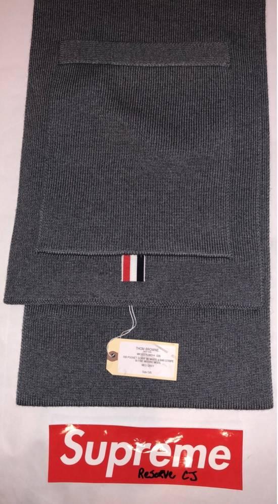 Thom Browne Grey Pocket Scarf Size ONE SIZE