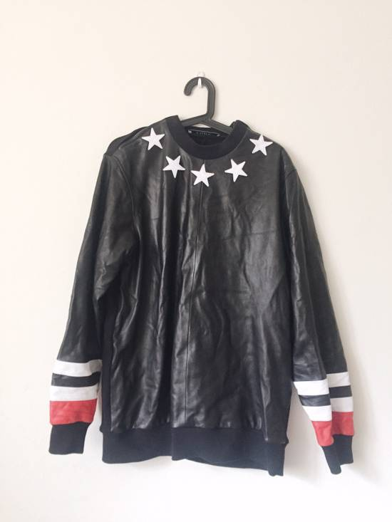 Givenchy Givenchy Star Neck Leather Shirt With Stripe Cuff Size US S / EU 44-46 / 1