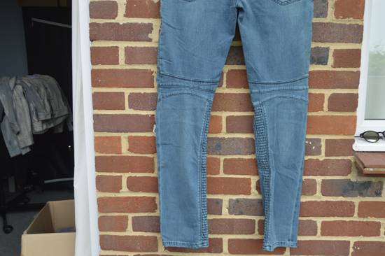 Balmain Turquoise Double Zip Biker Jeans Size US 34 / EU 50 - 8
