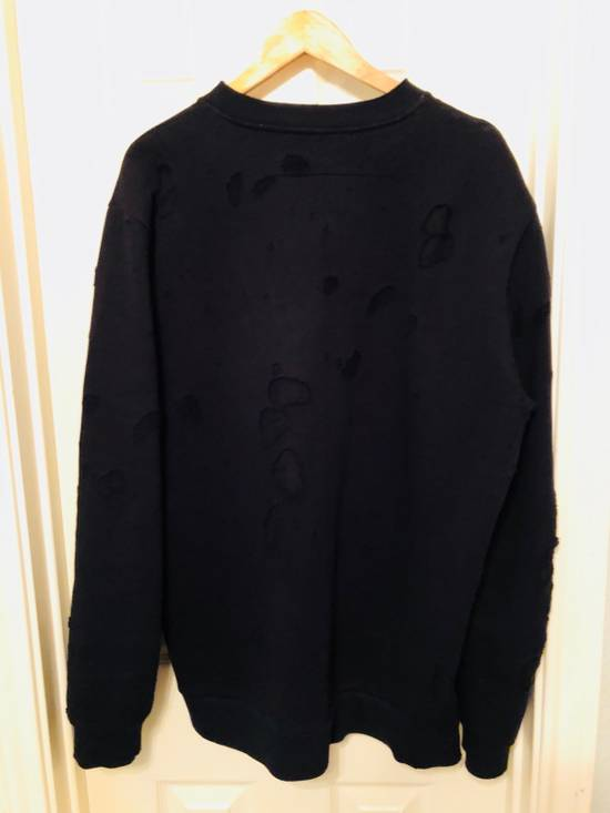 Givenchy Distressed printed French cotton-terry sweatshirt Size US XL / EU 56 / 4 - 1
