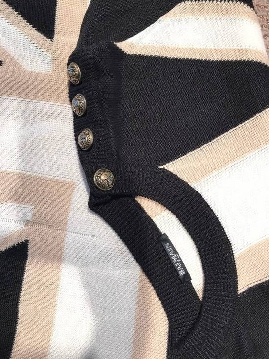 Balmain Union Jack Sweater beige/blk Size US XL / EU 56 / 4 - 2