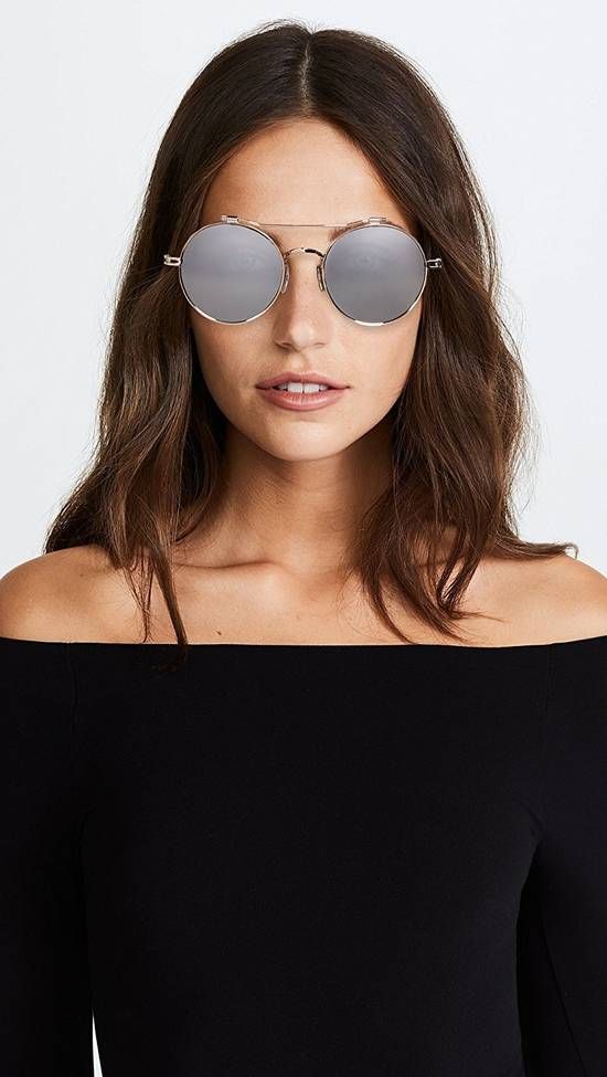 Givenchy NEW Givenchy 7079/S Gold Metal Silver Mirrored Round Sunglasses Size ONE SIZE - 1