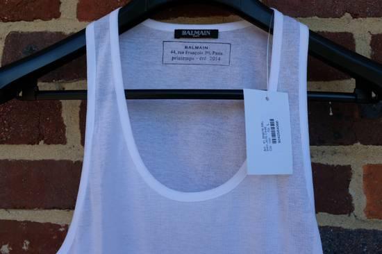 Balmain White Ribbed Knit Tank Top Size US L / EU 52-54 / 3 - 3
