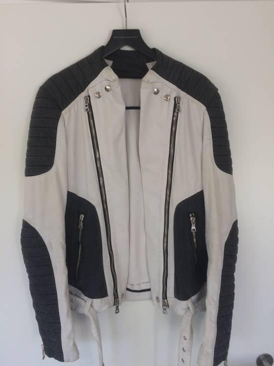 Balmain Balmain Men's Black Contrast Panel Biker Jacket Size US L / EU 52-54 / 3
