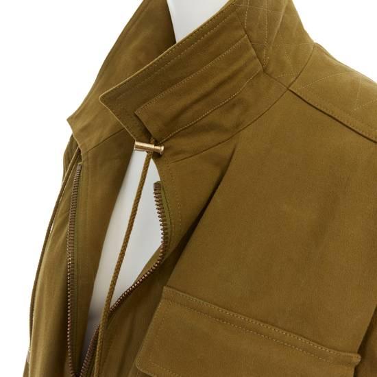 Balmain BALMAIN Pre14 army green stretch military zip up oversized jacket FR40 US8 UK12 Size US M / EU 48-50 / 2 - 10
