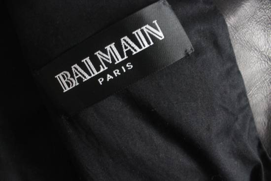 Balmain SS11 Decarnin Teddy Varsity Black Leather Jacket Kanye West 1of1 Size US L / EU 52-54 / 3 - 7