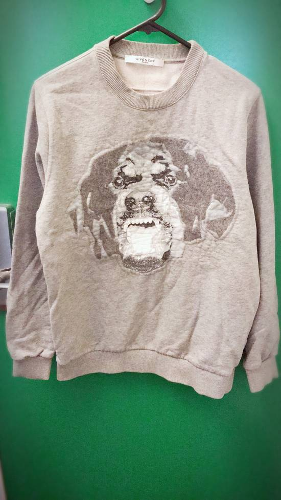 Givenchy Oversized Wool And Cotton Grey Rottweiler Sweatshirt Size US XS / EU 42 / 0