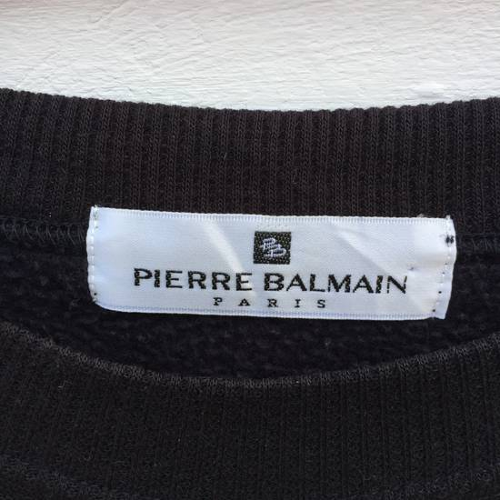 Balmain 100% Authentic Luxury Balmain / Pierre Balmain Embroidery Big Logo Sweastshirt / Balmain Crewneck Pullover Size US L / EU 52-54 / 3 - 2