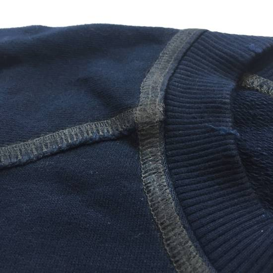 Balmain Distressed Navy French Terry Sweatshirt NWT Size US XL / EU 56 / 4 - 6