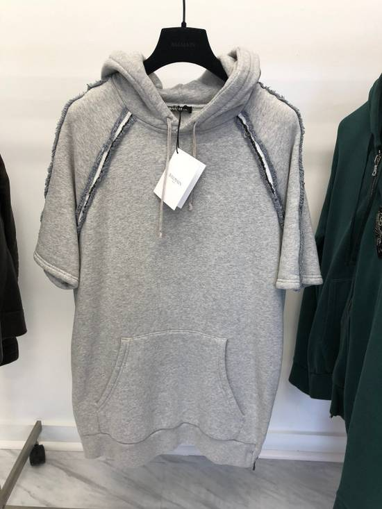 Balmain Last Drop Mid Sleeve French Terry Hoodie Size US M / EU 48-50 / 2