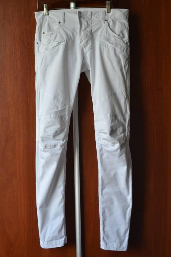 Balmain white biker pant Size US 32 / EU 48