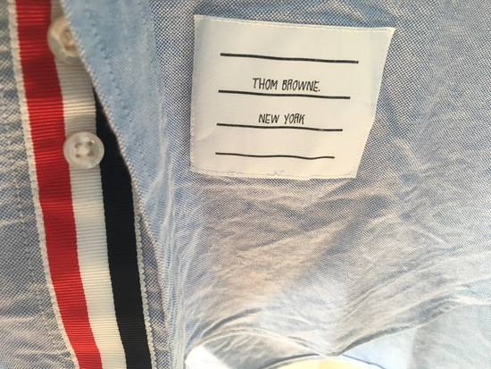 Thom Browne Light Blue Oxford Shirt w/Signature Grosgrain Placket Size US M / EU 48-50 / 2 - 2