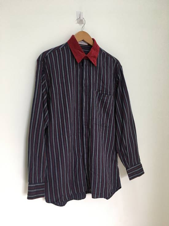 Givenchy Gentleman Givenchy Indigo Red Stripes Casual Shirt Made in Italy Size US M / EU 48-50 / 2 - 4