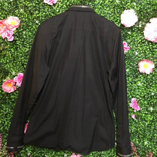 Givenchy Black Zipper Collar/Cuff Dress Shirt Size US XS / EU 42 / 0 - 1