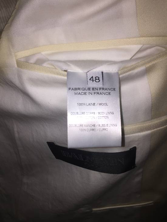Balmain White Tuxedo jacket Size 48S - 2