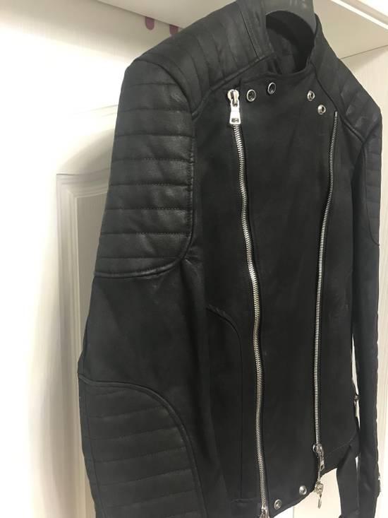 Balmain waxed biker jacket Size US M / EU 48-50 / 2 - 4