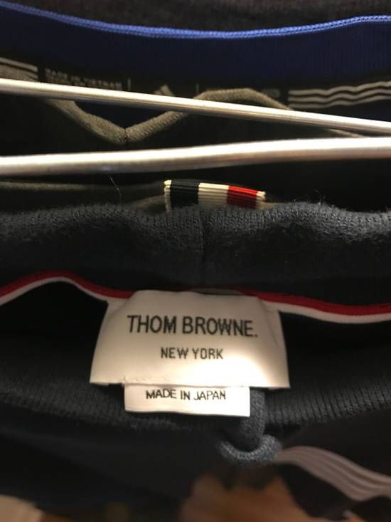 Thom Browne Navy Classic Four Bar Lounge Pants 181381F086002 Size US 35 - 3