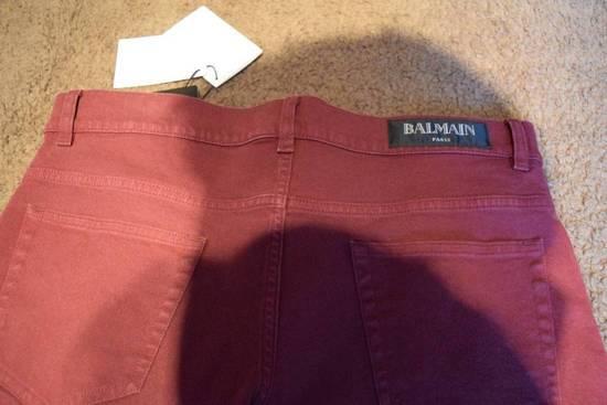 Balmain Balmain Authentic $1090 Jeans Burgundy Size 33 Slim Fit Brand New Size US 33 - 5