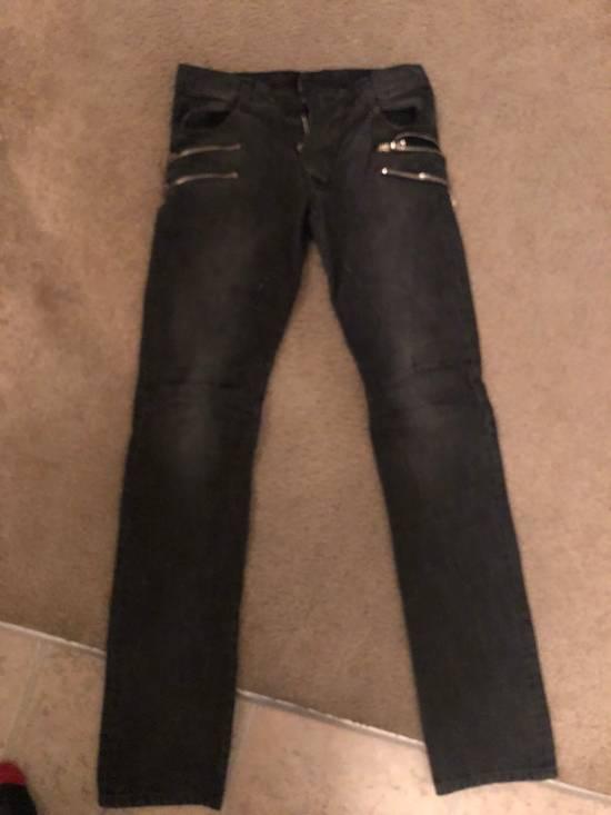 Balmain Balmain Oliver Era Biker Jeans In A Wash Grey Size US 29 - 6