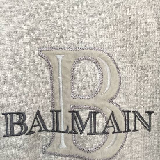 Balmain Vtg PIERRE BALMAIN PARIS Big Logo Made In JAPAN Gray MEDIUM Sweatshirt Jumper Size US M / EU 48-50 / 2 - 2