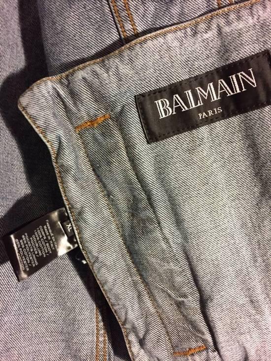 Balmain Blue Distressed Denim Jacket Size US XL / EU 56 / 4 - 4