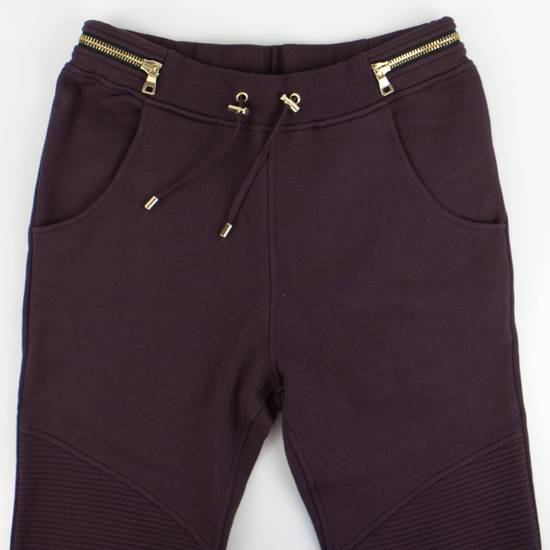 Balmain Men's Burgundy Cotton Leggings Biker Pants Size Large Size US 36 / EU 52 - 3