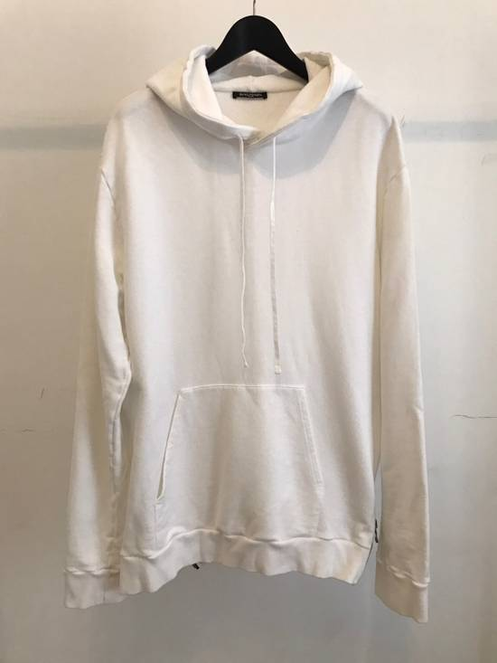 Balmain WHITE COTTON ZIP HOODY Size US XL / EU 56 / 4