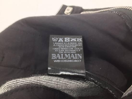 Balmain BNWT Black Waxed Denim Skinny Biker Jeans Size US 30 / EU 46 - 10