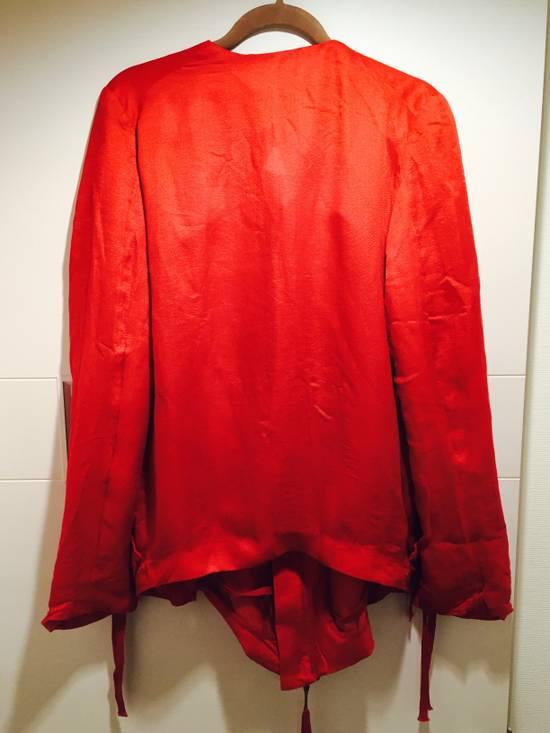 Damir Doma Red Draped Jacket Size 48 Size US M / EU 48-50 / 2 - 3