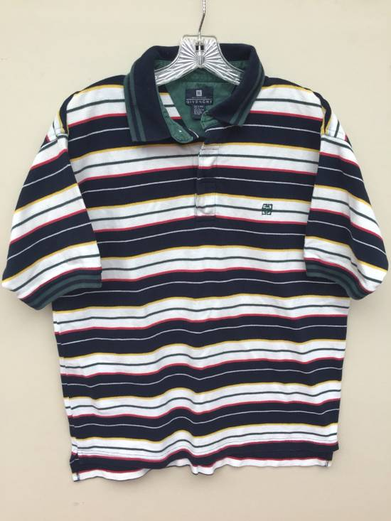 Givenchy Vintage Givenchy Activewear Striped Polo Size US L / EU 52-54 / 3