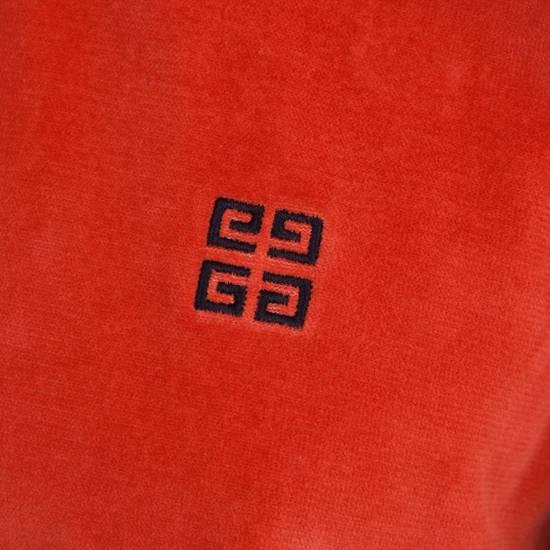 Givenchy Orange Men's Velour Crewneck T-Shirt With 4G Chest Logo Size US S / EU 44-46 / 1 - 5