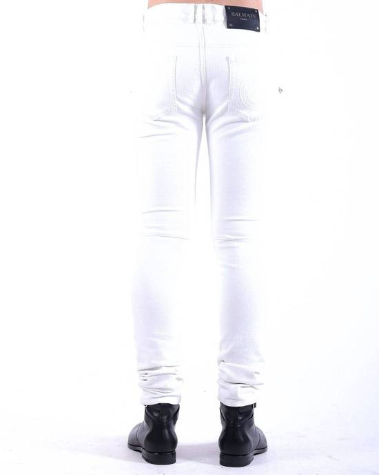 Balmain Balmain White Biker Skinny Authentic $1000 Jeans Size 32 Size US 32 / EU 48 - 1