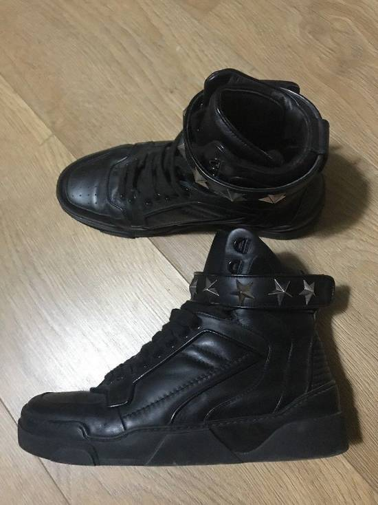 Givenchy Black Leather Tyson Star Hi Top Sneakers Size 9 UK 43 Silver Calf Boots Size US 9.5 / EU 42-43 - 2