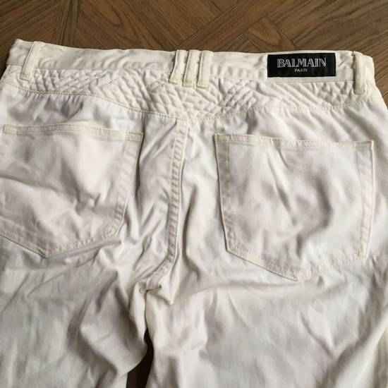 Balmain Balmain White Biker Pants Size US 36 / EU 52 - 2